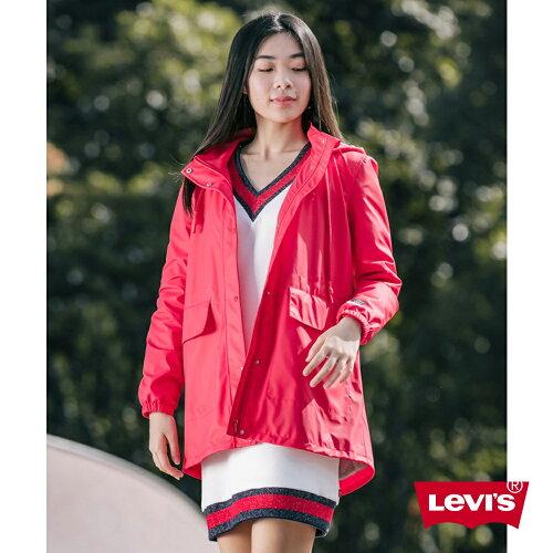 Levis 女款 防水潑水風衣外套