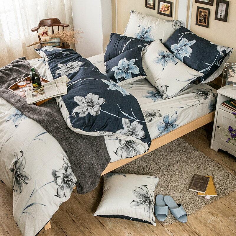 床包兩用被套組  /  雙人-100%精梳棉【漫漫花徑米】含兩件枕套,花語系列,戀家小舖,台灣製 2