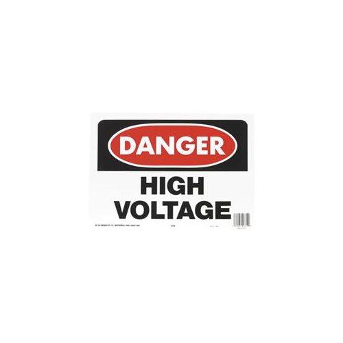 "Hy-Ko Osha Sign Red 10"" X 14"" High Voltage"