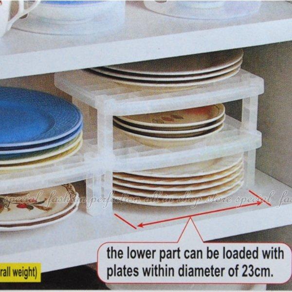 碗盤收納架-小 組合式碗盤收納棚 可堆疊盤子整理架 整理棚【GF453】◎123便利屋◎