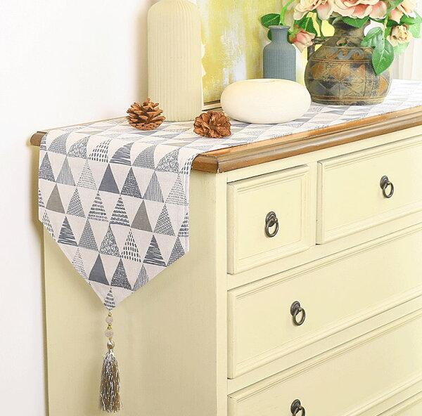 北歐清新幾何餐桌旗桌布鞋櫃蓋布桌巾單售
