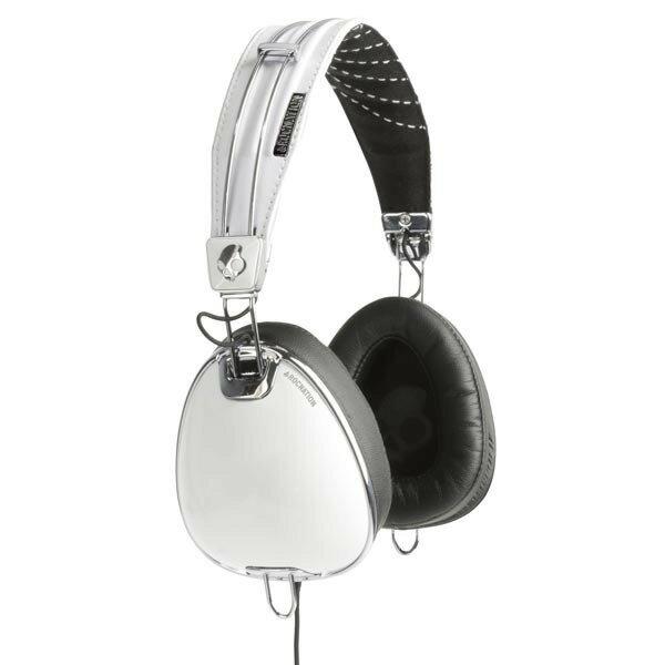 志達電子 S6AVFM-158 白銀 美國 Skullcandy Aviator 可換線式 飛行員耳罩式耳機 for iPhone ipod Apple