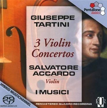 PentaTone 阿卡多(Salvatore Accardo)/塔替尼:3首小提琴協奏曲(Tartini:3 Violin Concertos)【1SACD】