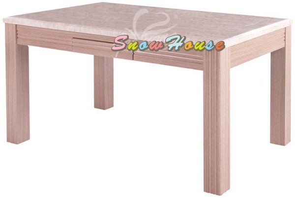 ╭☆雪之屋居家生活館☆╯1013-03 H02 大理石餐桌/飯桌/白橡腳/胡桃腳