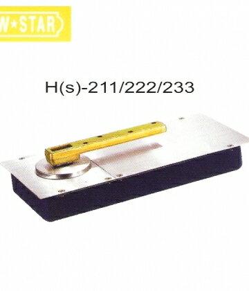 日本NEW STAR 地鉸鍊 HS-222 中心有檔 最大門重105kg 適用門扇950*2100 關門器