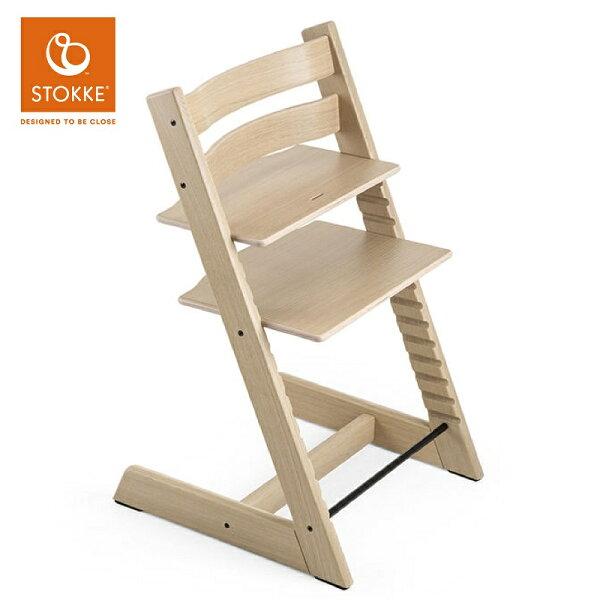 【預購6月底】【橡木限量版】挪威【Stokke】TrippTrapp成長椅餐椅(橡木白)