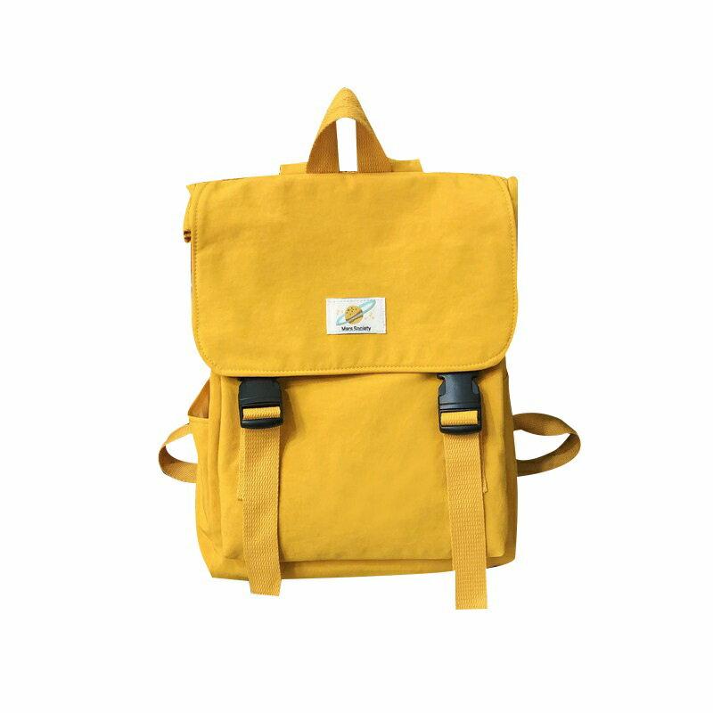 後背包尼龍雙肩包-純色休閒大容量方型女包包4色73wy15【獨家進口】【米蘭精品】 0