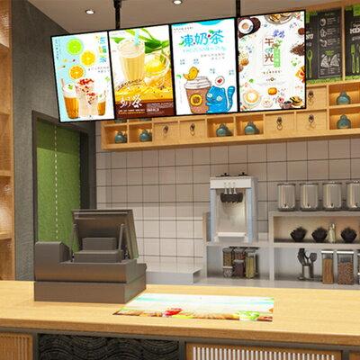 奶茶店電視燈箱超薄懸掛牆式LED點餐肯德基漢堡菜單價目表看板