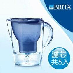 德國BRITA Marella馬利拉3.5L濾水壺-藍色【1壺5芯】