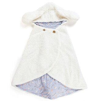 大耳狗小耳尾巴造型連帽披肩斗篷外套居家毛毯毛茸茸冬季保暖多圖白818206海渡