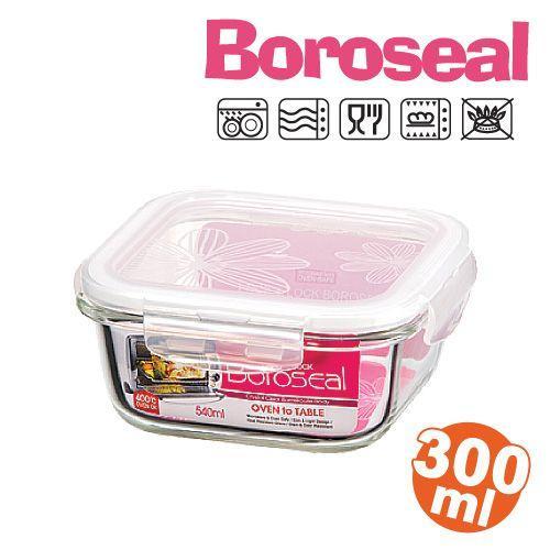 樂扣樂扣微波烤箱玻璃保鮮盒/便當盒方型300ml-LLG203-大廚師百貨