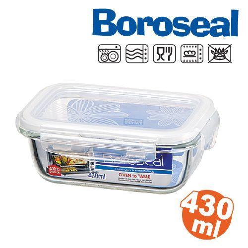 樂扣樂扣微波烤箱玻璃保鮮盒/便當盒長方型430ml-LLG424-大廚師百貨