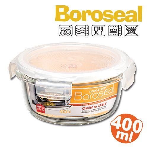 樂扣微波烤箱玻璃保鮮盒/便當盒圓型400ml-LLG822-大廚師百貨