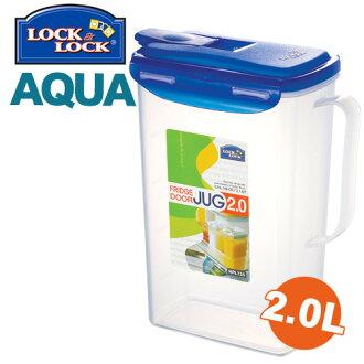 樂扣樂扣冷溫兩用壺2L冷水壺HPL735環扣設計冰箱側門可用-大廚師百貨