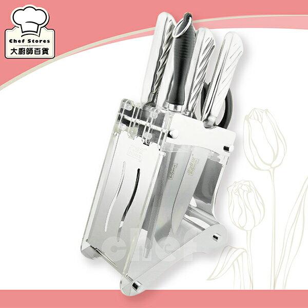 米雅可經典七件式刀具組附刀座菜刀廚房剪刀-大廚師百貨
