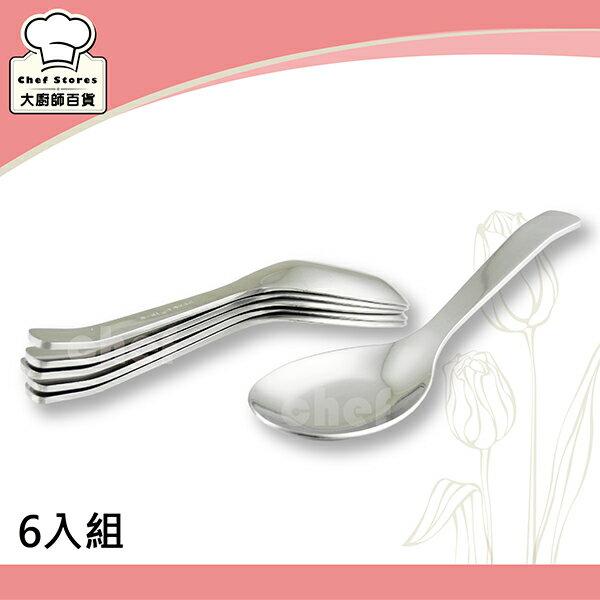 OSAMA王樣日式小台匙(六入組)304厚料不銹鋼兒童湯匙-大廚師百貨