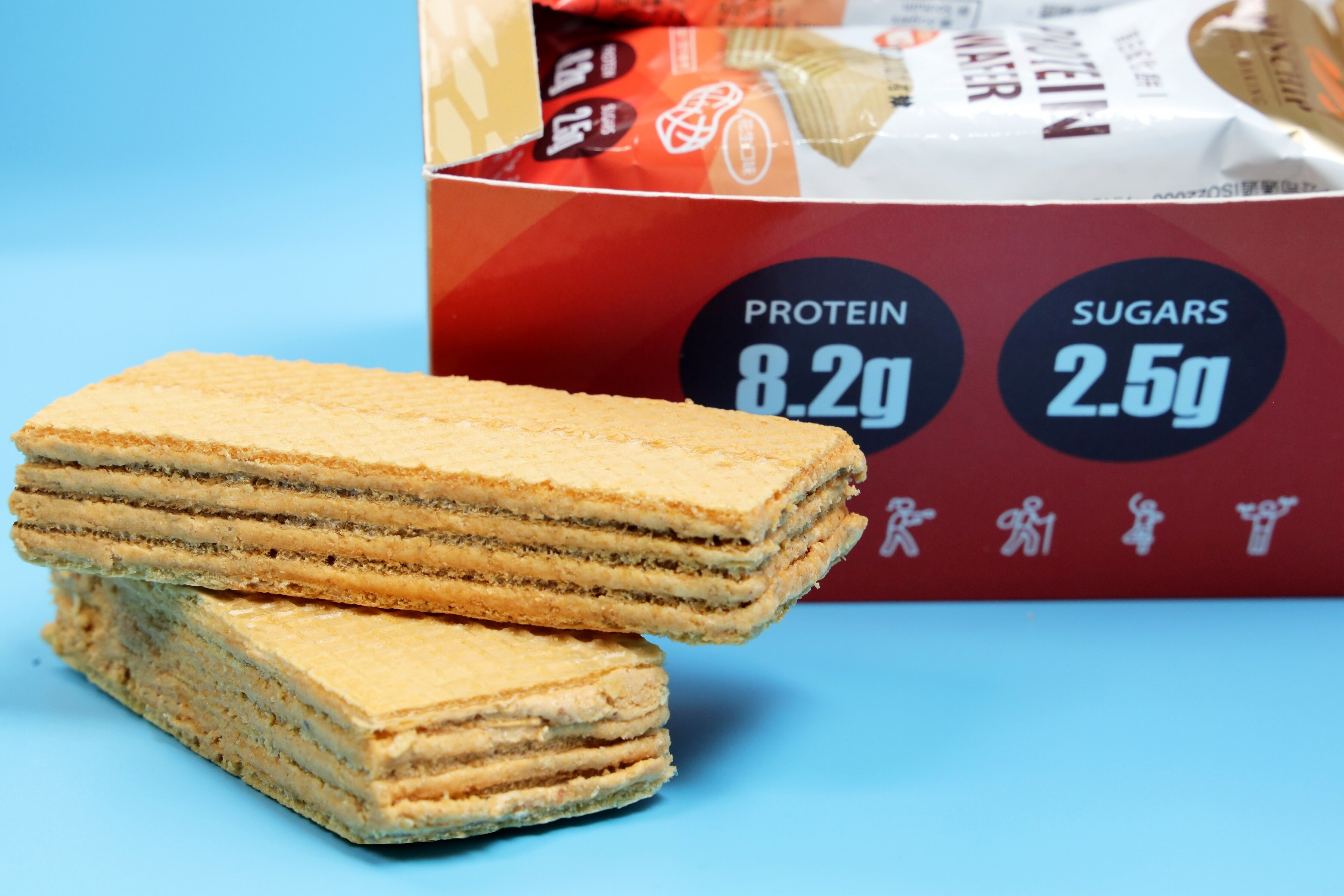 【Minchip】 盒裝(9入)蛋白威化餅270g(花生口味)