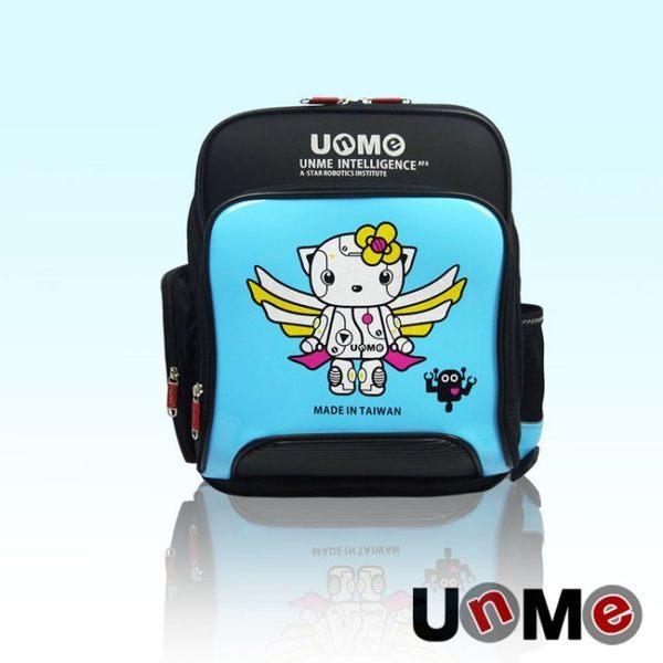 <br/><br/>  UNME 鏡面 機器人天使 減壓後背 書包 反光設計 3077B<br/><br/>