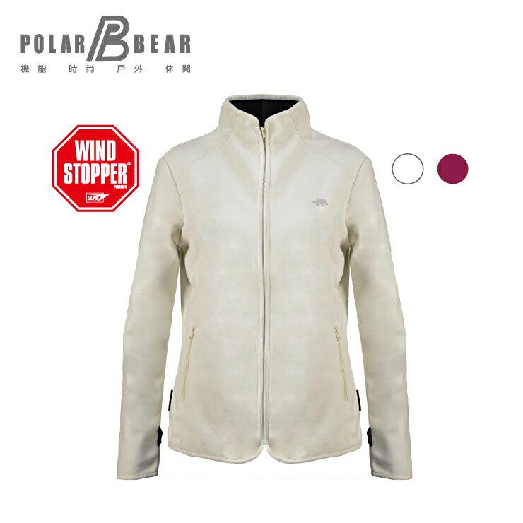 【POLAR BEAR】女WINDSTOPPER防風刷毛外套