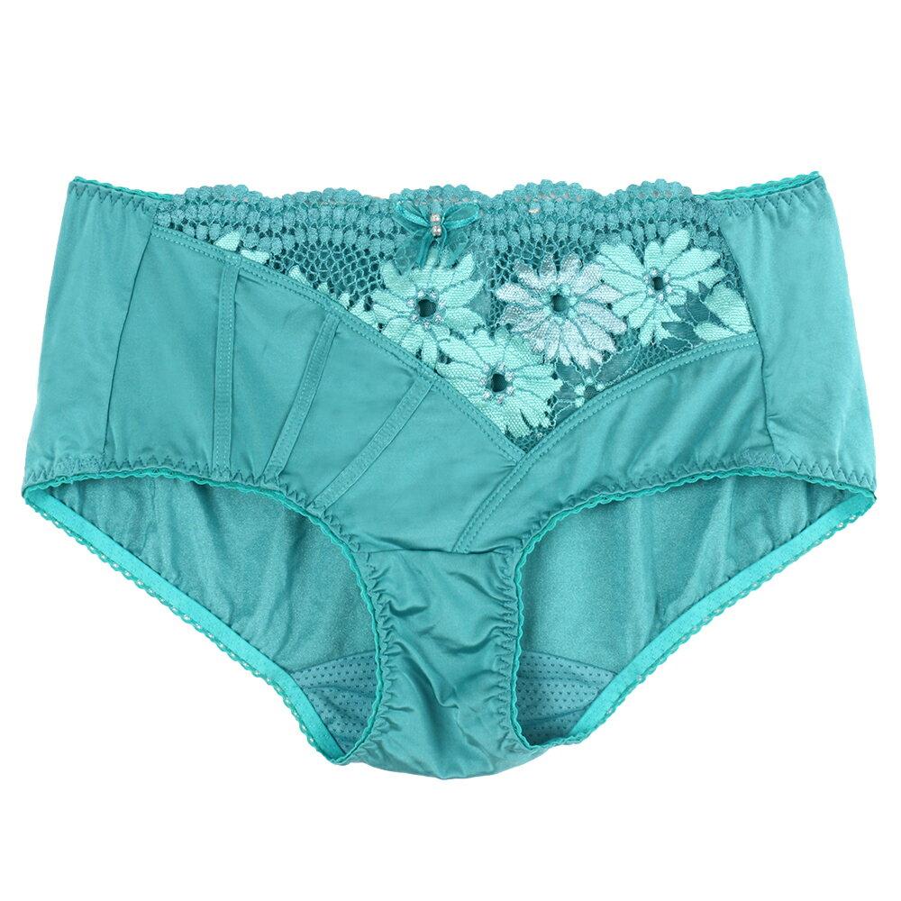 【Favori】冰絲 迷幻沁涼平口褲 (水綠) 0