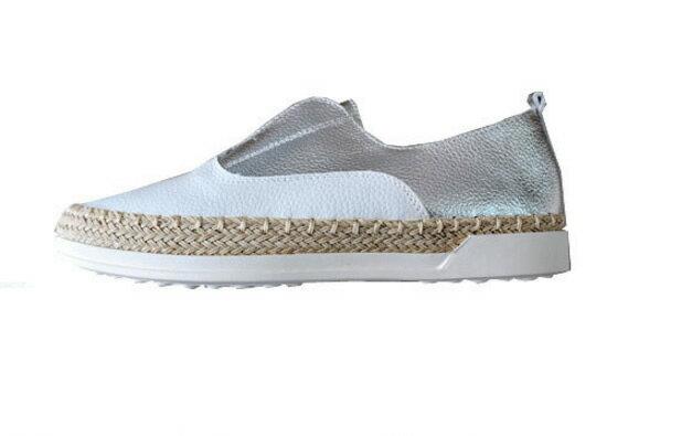 樂福鞋女真皮小白鞋平底單鞋一腳蹬懶人鞋休閒 漁夫鞋