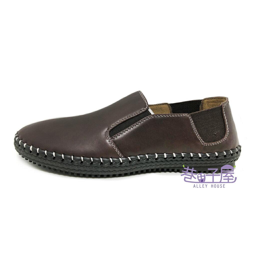 【限量回饋】Wenies PoLo 男款粗針車縫紳士休閒鞋 方便鞋 懶人鞋 [5358] 咖啡 超值價$298