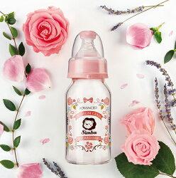 小獅王蘿蔓晶鑽標準玻璃小奶瓶(玫瑰)120ml【樂寶家】