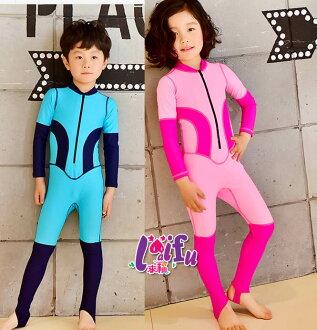 ★草魚妹★F53泳衣嘻遊記兒童泳衣小朋友游泳衣連身泳裝長袖泳衣,一套售價750元