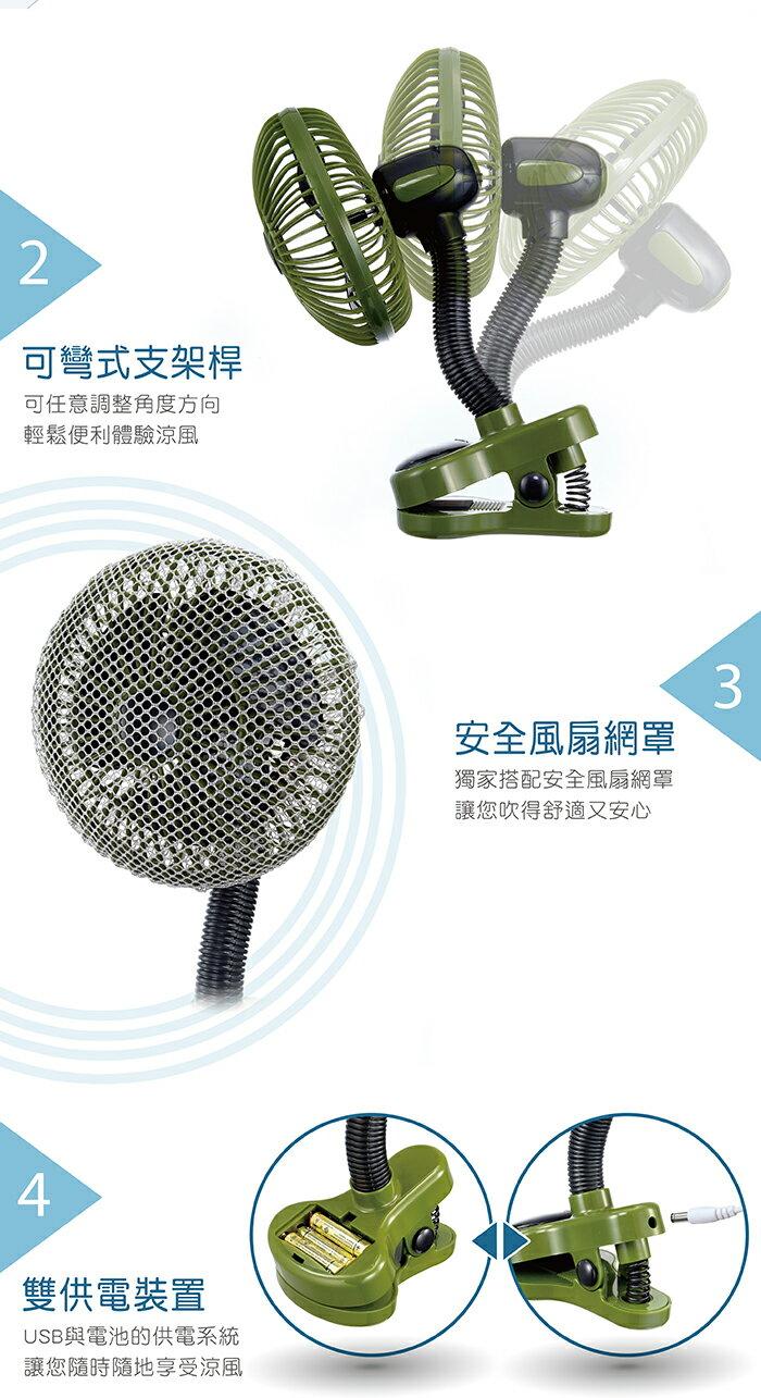 『121婦嬰用品館』辛巴 萌萌家夾式電風扇(森綠) 3