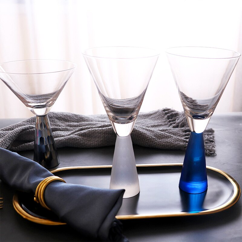 創意輕奢電鍍紅酒杯樣板間雞尾酒杯宴會餐桌酒杯酒吧