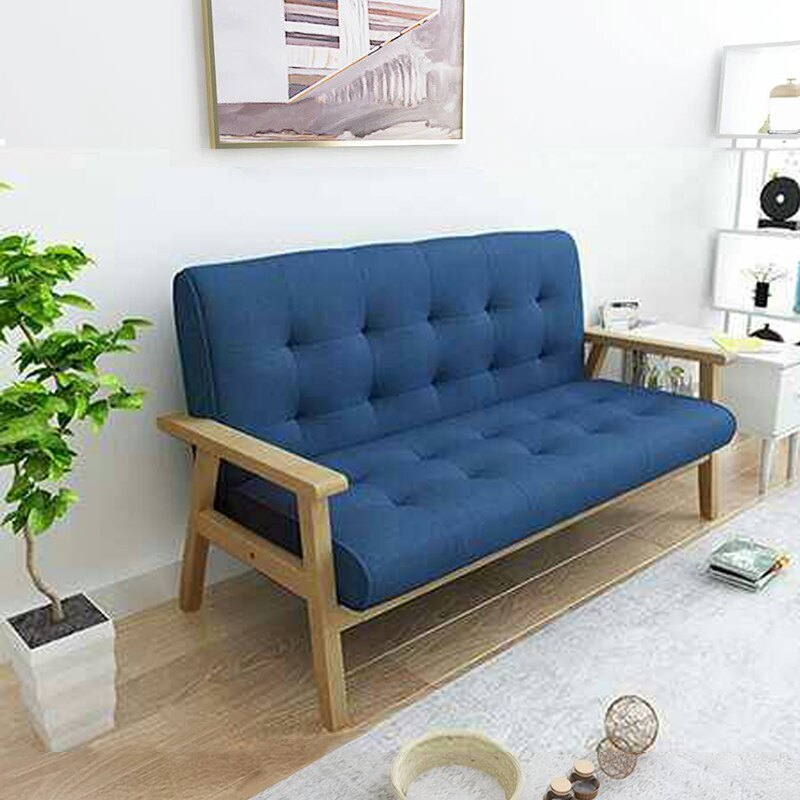 【新生活家具】布沙發 皮沙發 亞麻布 雙人沙發 藍色 北歐風《悠閒午後》工廠直營 非 H&D ikea 宜家