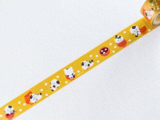 *小徑文化*日本進口 淘氣貓 喵喵三丁目 系列和紙膠帶 - 紅豆湯 ( TM-MK-007 )