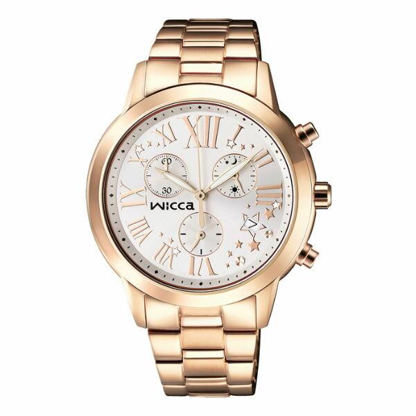 CITIZEN星辰WICCA^(BM1~261~11^)玫瑰羅馬三環 腕錶  白面38mm