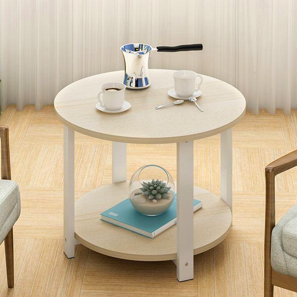 簡約現代小圓桌茶幾組裝簡易經濟型客廳沙發邊桌邊幾迷你咖啡桌XW 雙12購物節
