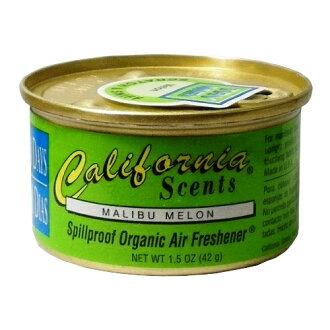 California Scents加州淨香草室內芳香罐-哈蜜瓜 Malibu Melon