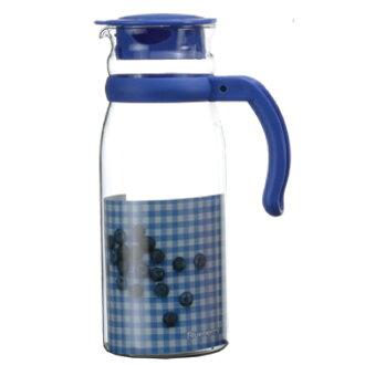 SYG精緻耐熱玻璃水壺BH1215-藍蓋