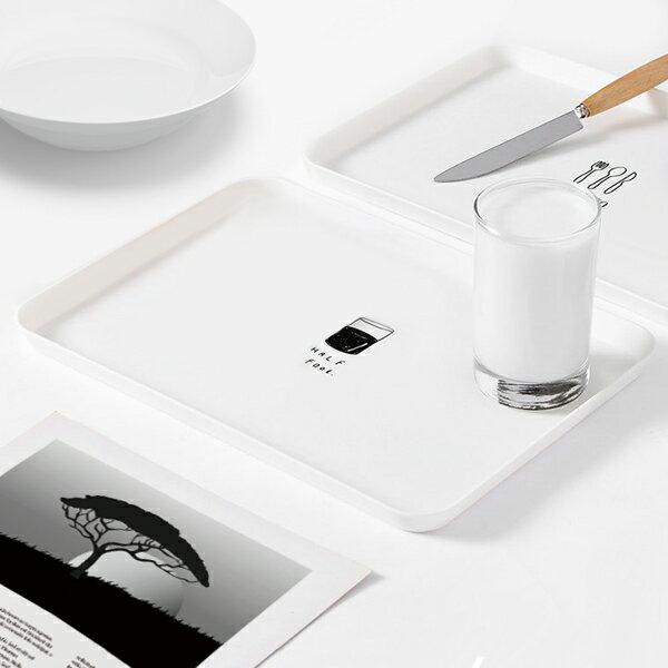 【aife life】印花托盤 餐盤茶盤 餐具 麵包盤 餐廳用品 廚房用具 長方型托盤