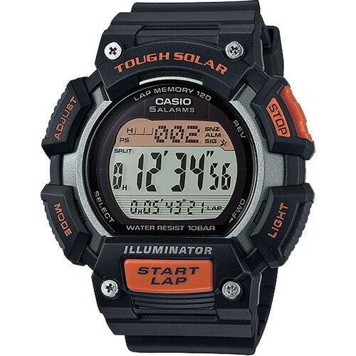 CASIO G-SHOCK STL-S110H-1A 黑橘數位腕錶/黑面53mm