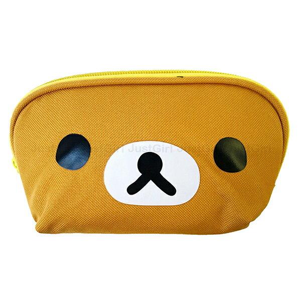 懶懶熊 拉拉熊 化妝包 筆袋 鉛筆盒 收納包 三角 文具 配件 正版日本授權 JustGirl