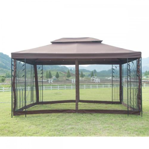 New 10X 10 Inch Outdoor Gazebo Steel Frame Vented Garden Gazebo Canopy 0