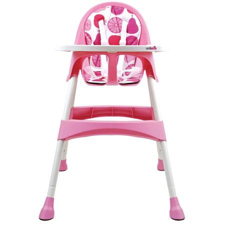 【悅兒園婦幼生活?】英國 unilove 兒童高腳餐椅 Hoja-Raspberry 粉色