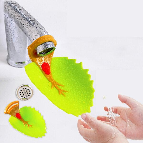 樹葉造型導水槽幼兒專用水龍頭延伸器嬰兒用品RA3271好娃娃