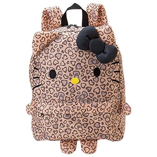 X射線【C030008】Hello Kitty 造型後背包-豹紋,美妝小物包/媽媽包/面紙包/化妝包/零錢包/收納包/皮夾/手機袋/鑰匙包