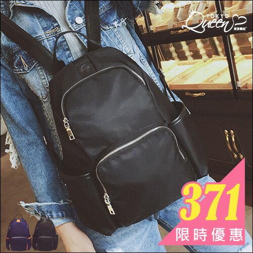 簡約多口袋大容量後背包.東京靚包.Fantasy.【AZX23604】