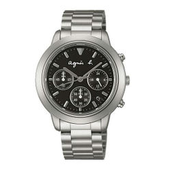 agnes b VD53-KQ00D(BT3012X1)法式時尚計時腕錶/黑面40mm
