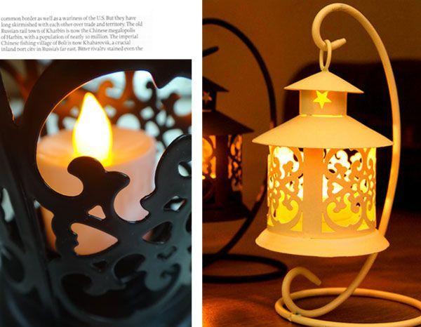 歐式古典鏤空遙控電子燭台燈 (現貨+預購)