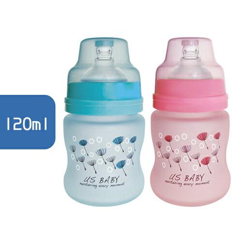 USBABY優生真母感特護玻璃瓶(寬口徑)120ml(藍粉)【單入】【悅兒園婦幼生活館】