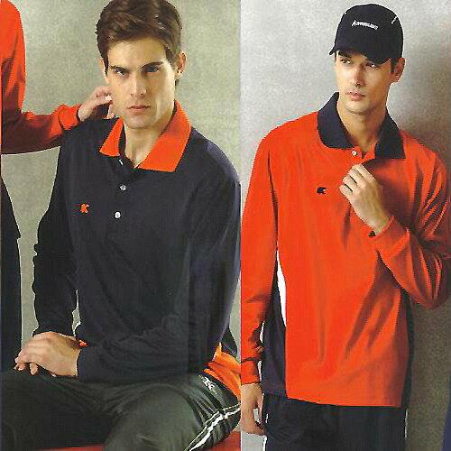 日本名牌 Kawasaki 男女吸濕排汗長POLO衫-紅#K223A-深藍#K223A1 - 限時優惠好康折扣