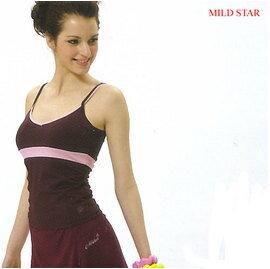 MILD STAR 女版吸濕排汗韻律服套裝~^~深紫背心 深紫七分褲裙^~^#CS2023