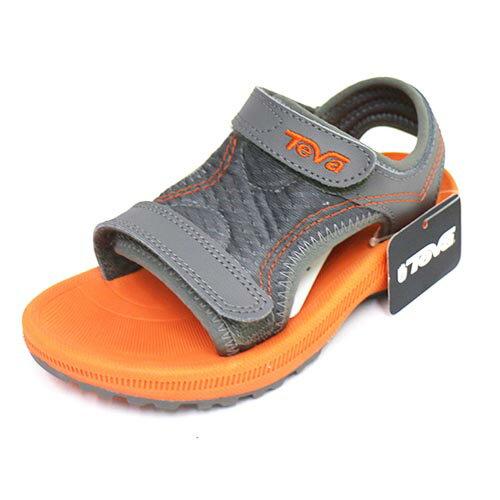 TEVA 兒童護腳背涼鞋 避震 耐磨 抗菌 防臭 TV100638GORN (橘/灰)[ 陽光樂活 ]
